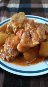 Locally called Apritadang  Manok, one of those tomato sauce based stews that was introduced by the Spaniards. At Papa's Kitchen, it is so delicious, you would love a second serving!