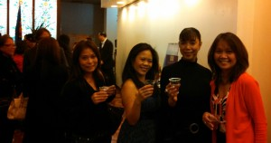 Melissa, second from left, with friends at the Philippine Consulate on 5th Avenue.