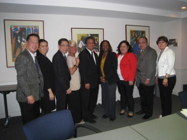(L-R: Lito Pernia, Patricia Astorga, Jose Ramos, Jr., Marie Aunio, JTS Mallonga, Sherrilyn Ilfill, Cecilia Mejia, Merit Salud, Nimfa Tinana)